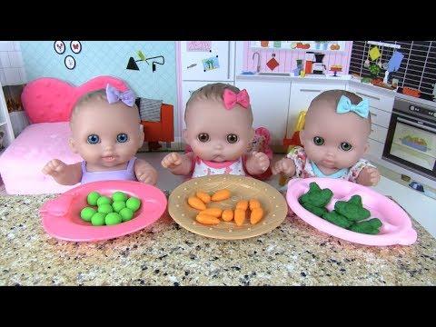 Куклы Пупсики Кормим Играем с Шариками Орбиз Стиральная машинка Пылесос  Игрушки