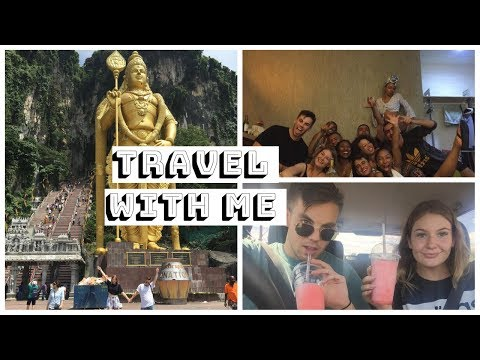 MALAYSIA DAY ONE // DRIVING TO MELB, PARTYING WITH AMERICANS & VISITING THE BATU CAVES :-)