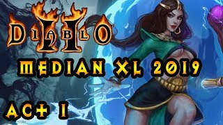 Diablo 2 Median Xl Sigma 2019 Act 1 As Sorceress :  Andariel Boss Fight Act 1 End