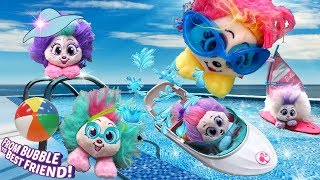 Shnooks Pool Party 💦 Bubble to Best Friend 💙Can Shnooks Swim? Cute Plush Toys Hairstyles Zuru 2018