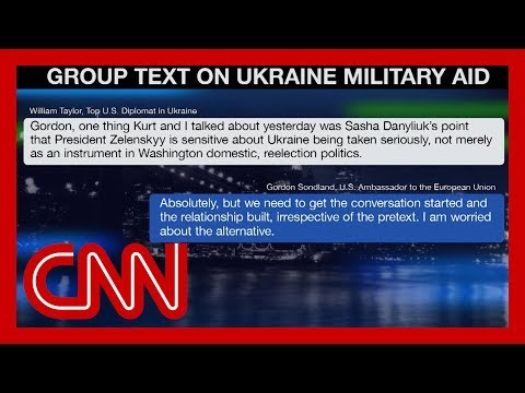 Texts Between US Diplomats And Ukrainians Released