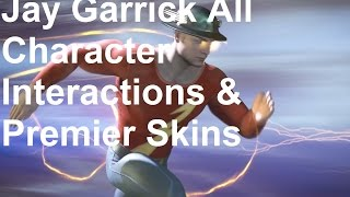 INJUSTICE 2 All Jay Garrick Intros Dialogue Character Banter 1080p HD