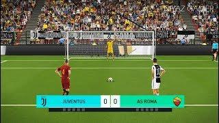 JUVENTUS vs AS ROMA | Penalty Shootout | PES 2018 Gameplay PC