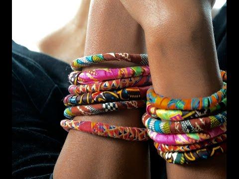 DIY Ankara Fabric Bracelets