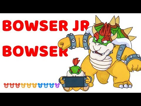 Speed Drawing Super Mario Odyssey Bowser Bowser Jr