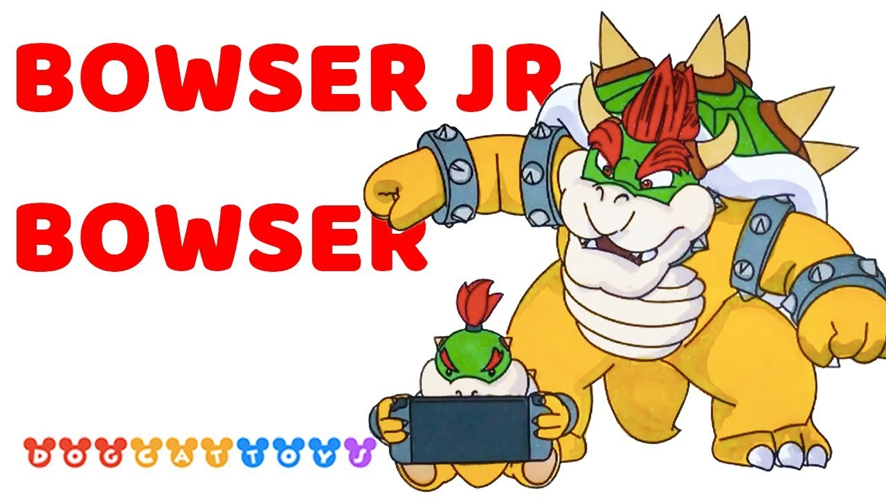 Speed Drawing Super Mario Odyssey Bowser Bowser Jr Drawing