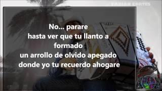 El Remmy Valenzuela - No Volvere (letra)