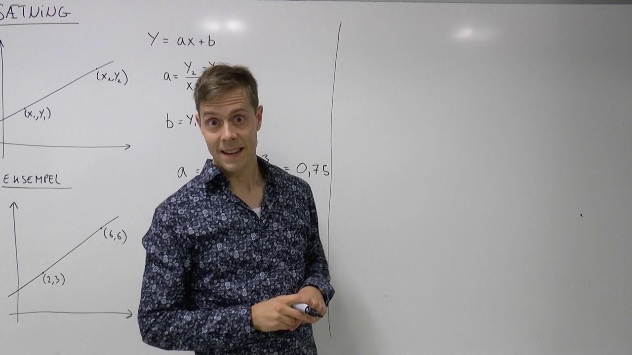 Lineær funktion - forskrift ud fra to punkter