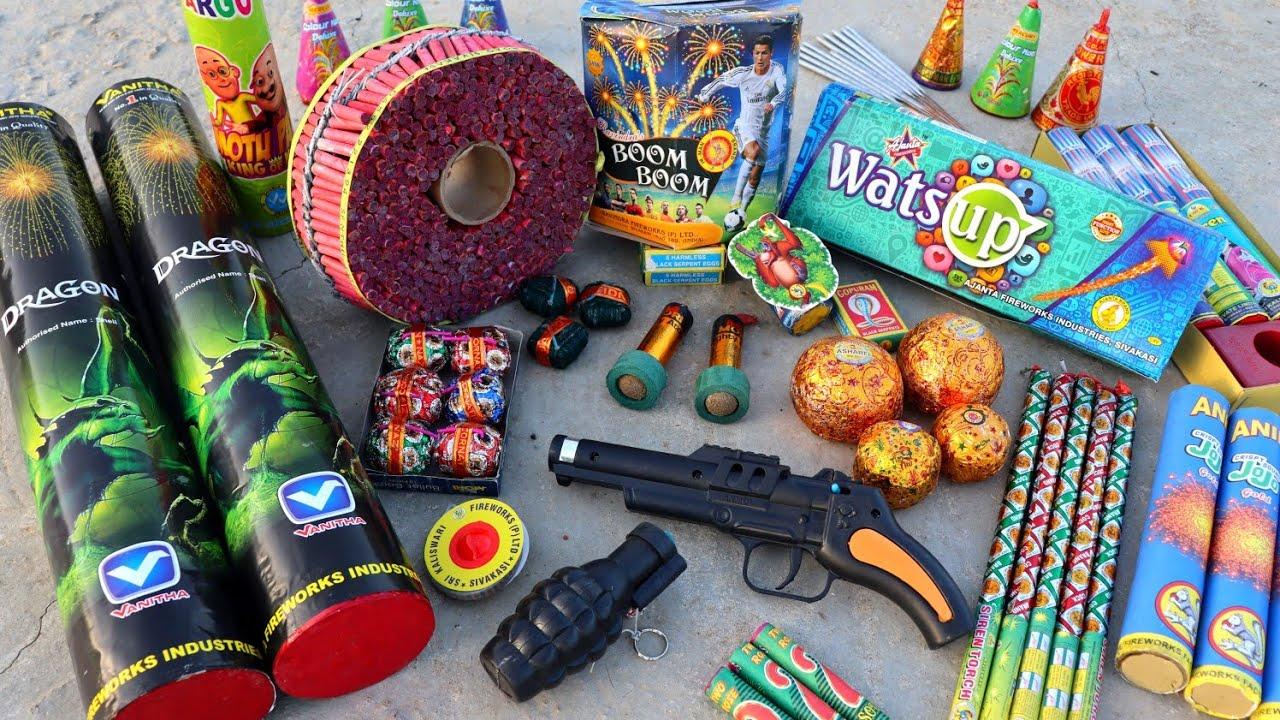 Download Different type of Fireworks testing | दिन में जलाया सारे पटाखे | Diwali fireworks testing in day 🧨🔥