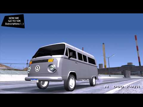 Volkswagen Kombi 2009 V2 By Vermilion093 3D ✪ FREE TUNING SPEED price GTA Realistic Graphics _REVIEW