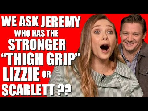 ELIZABETH OLSEN INTERVIEW gets CRAZY with JEREMY RENNER for WIND RIVER