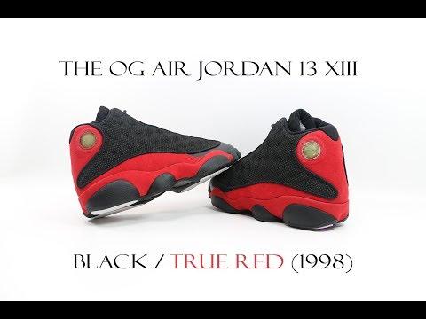 THE OG AIR JORDAN 13 XIII BLACK / TRUE
