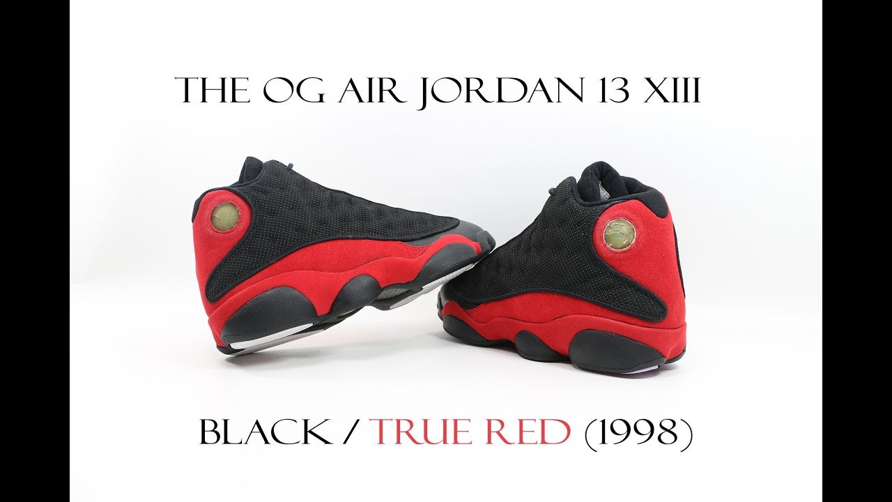e18e13f2a4b4df THE OG AIR JORDAN 13 XIII BLACK   TRUE RED