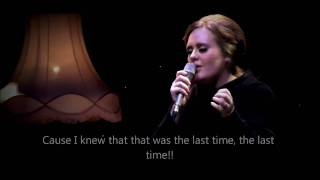 "Adele - Set fire to the rain ""OFFICIAL VIDEO LYRICS"" HD (live from Tabernacle, London)"