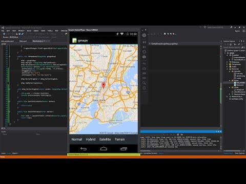 Xamarin Android Tutorial 40 Google Maps