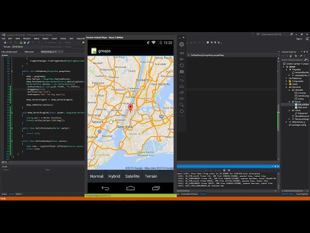 Xamarin Android Tutorial 40 Google Maps