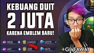 DUIT 2 JUTA KEBUANG GARA-GARA EMBLEM BARU! - Mobile Legend