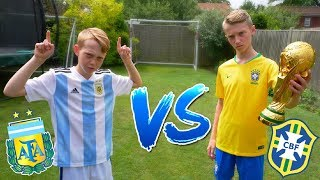 Messi VS Neymar Jr WORLD CUP FOOTBALL CHALLENGES! Brazil VS Argentina