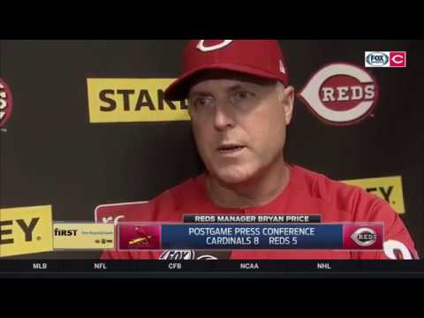 Bryan Price on pulling Homer Bailey after 'labor-intensive' outing | Reds Live postgame