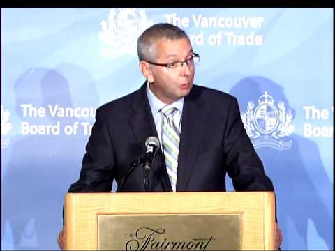 UBC President Stephen Toope addresses The Vancouver Board of Trade