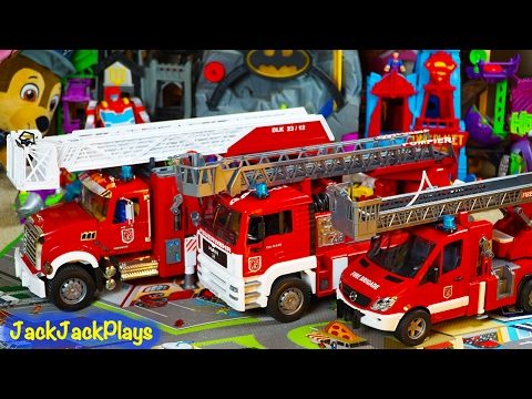 Bruder Fire Trucks for Kids Surprise Toy Unboxing Compilation - Fire Engine Toys Collection