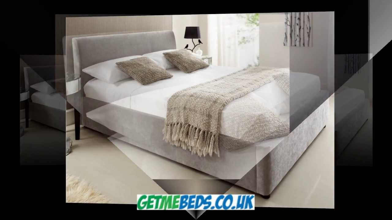 Serenity Ottoman Storage Bed Upholstered in Steel Grey & Serenity Ottoman Storage Bed Upholstered in Steel Grey - YouTube