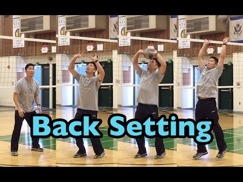 BACK Set - How To SET A Volleyball Tutorial (part 3/5)