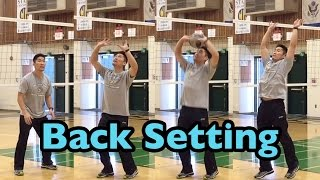 back set how to set a volleyball tutorial part 35