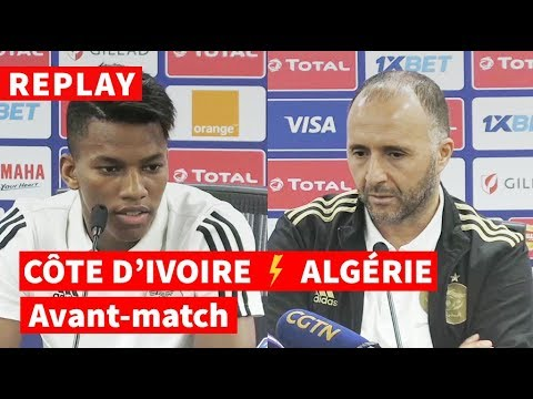 REPLAY - CAN-2019 | Avant-match Côte d'Ivoire-Algérie: conf de presse de Belmadi et Boudaoui