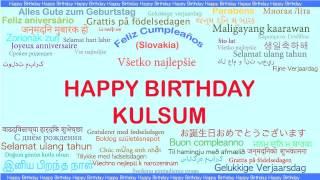 Kulsum   Languages Idiomas - Happy Birthday