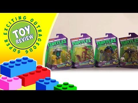 Mutagen Man, Squirrelanoid, Slash, & Rahzar Teenage Muntant Ninja Turtles - Toy Review