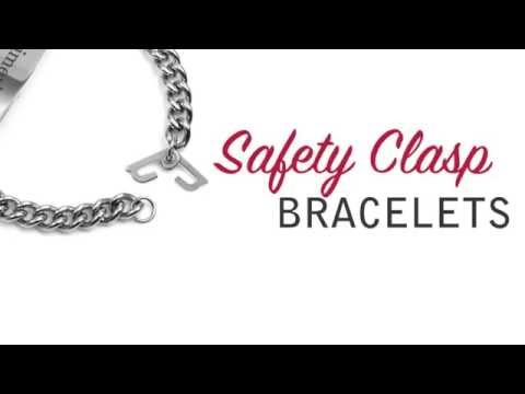 Safety Clasp Bracelets for Alzheimers, Parkinsons, Autism and Dementia