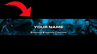 Call Of Duty Black Ops Cold War Youtube Banner Template PSD Free Download⚡VisualGraphics