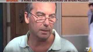 CLANDESTINI OCCUPANO UN PALAZZO IN CENTRO STORICO A #ROMA