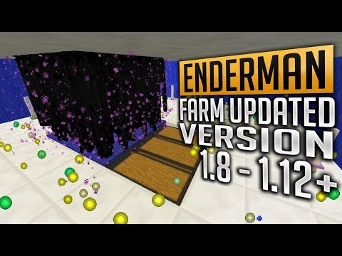Tutorial Enderman Farm Max XP for 1.8 - 1.12 (Updated version) Minecraft