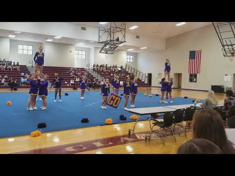 Springville Middle School cheerleaders