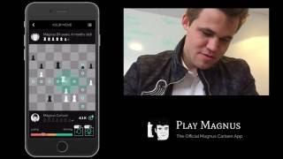 Magnus Carlsen vs. Magnus Carlsen on Play Magnus App  - Age 14 Years 4 Months