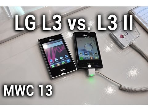 LG Optimus L3 vs. L3 II, comparaison au MWC 2013 - par Test-Mobile.fr