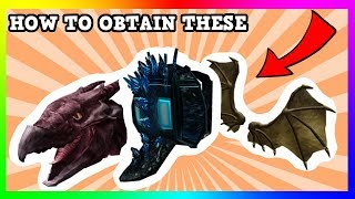 HOW TO GET RODAN'S HEAD, DRAGON SPINE AND GHIDORAH'S WINGS | (ROBLOX)