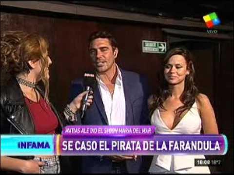 Marian Farjat entrevistó para Infama a Matías Alé y su flamante mujer