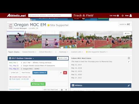 New Athletic Net Online Meet Registration Setup