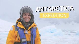Gambar cover ANTARCTICA Expedition   GENTOO PENGUINS SWIMMING under the Antarctic ice