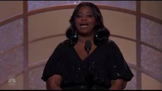 Octavia Spencer introduces The Shape of Water at the Golden Globe Awards