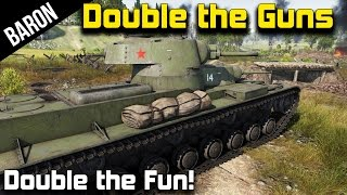War Thunder - Double the Guns, Double the Fun!  SMK Land Battleship!