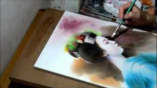 Watercolor Painting Demonstration Artist Seikou Yamaoka Drawing