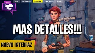 EPIC GIVES MORE DETAILS OF THE NEW INTERFACE! FORTNITE SAVE THE WORLD Spanish news
