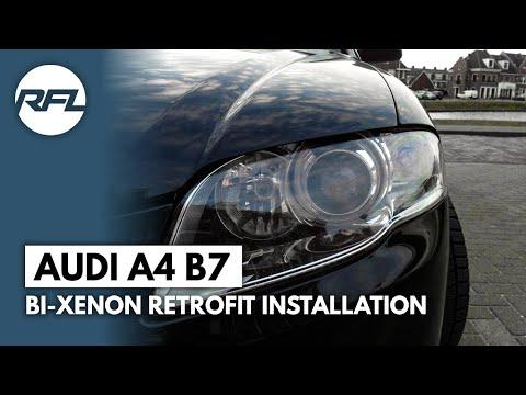 Audi A4 B7 Mini H1 Bi xenon projector headlight retrofit full tutorial
