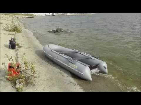 Аквилон (Aquilon) - надувная моторная лодка ПВХ с дном низкого давления (НДНД) 120