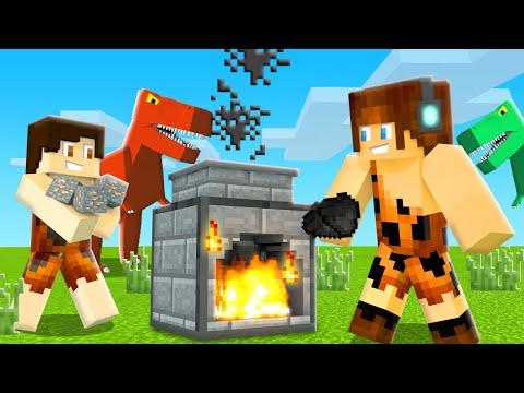 FORNALHA PRIMITIVA !! - Minecraft Dinossauros #07