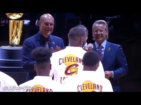 Cleveland Cavaliers Championship Ring Presentation Ceremony  (October 25, 2016)   2016-17 NBA Season